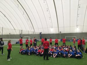 NFL event at the Soccer Dome